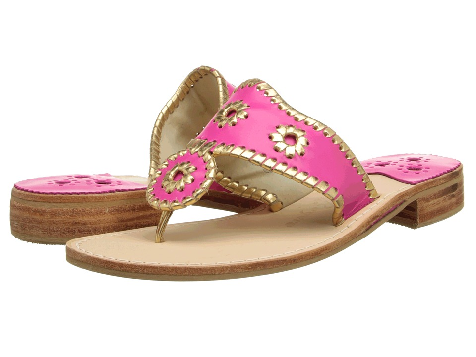 Jack Rogers - Nantucket Gold (Bright Pink/Gold) Women