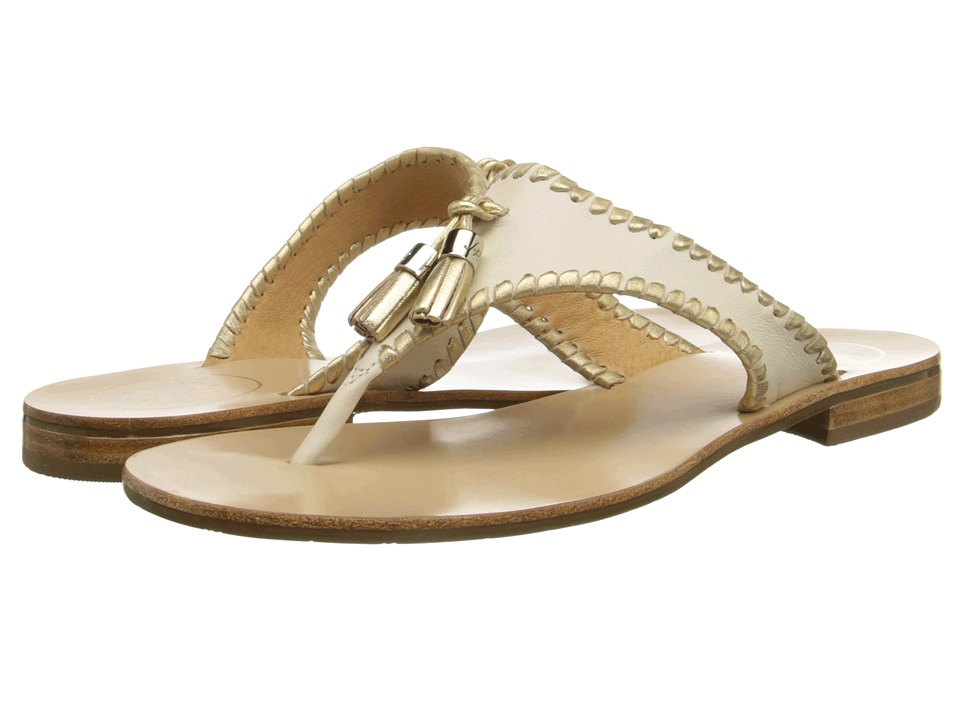 Jack Rogers - Alana (Bone/Gold) Women's Sandals