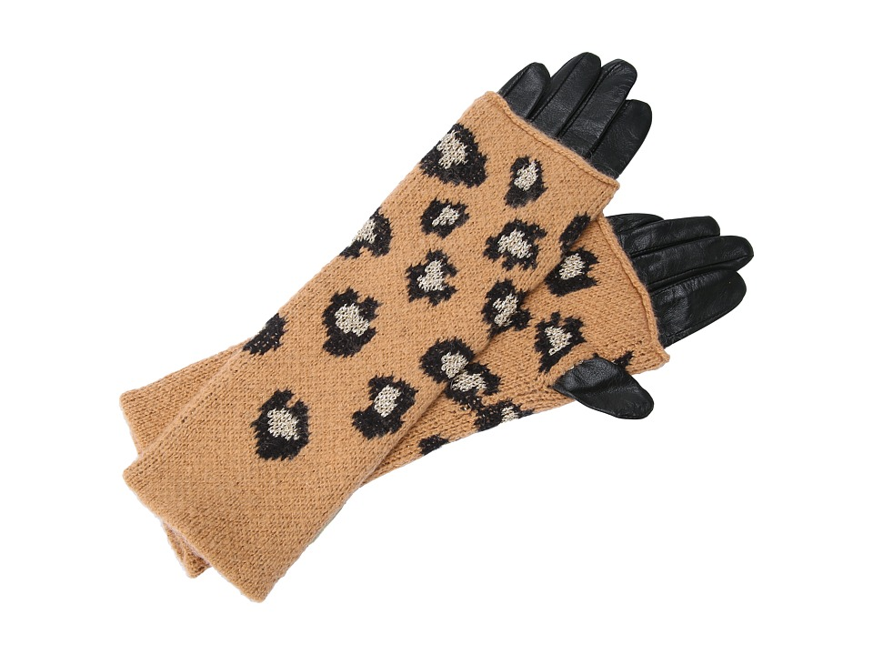 Juicy Couture Leopard Mitt Glove (Leopard) Extreme Cold Weather Gloves