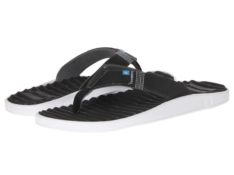 Freewaters - GPS (Black/White) Men's Sandals