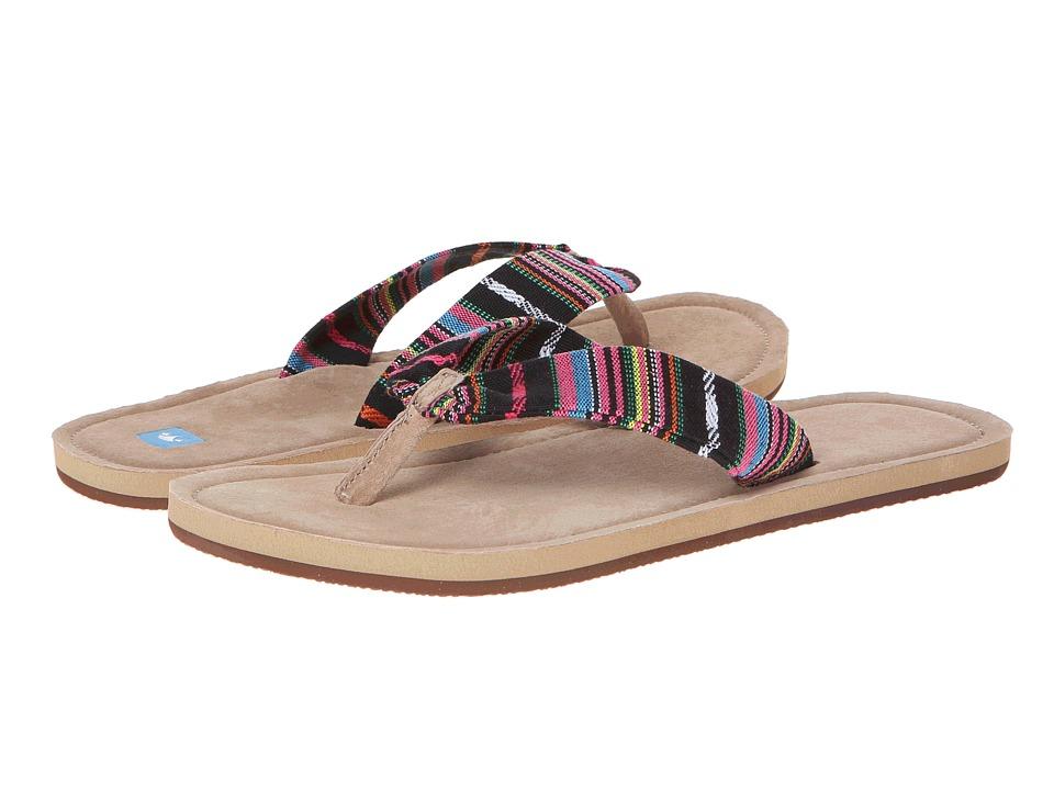 Freewaters - Kitz (Black/Magenta Stripe) Women's Sandals
