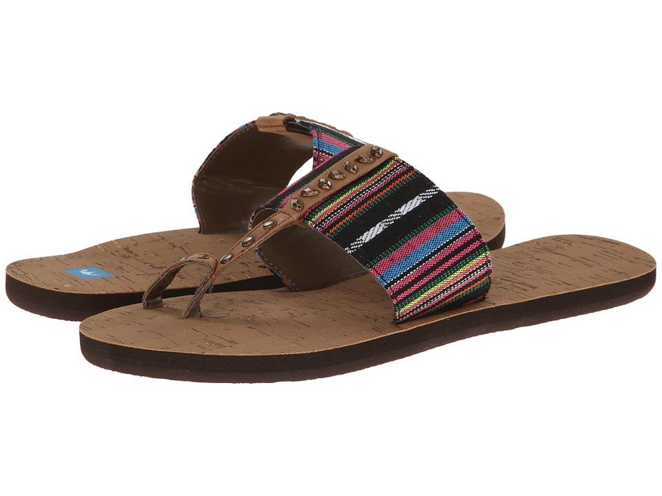 Freewaters - Lola (Black/Magenta Stripe) Women's Sandals