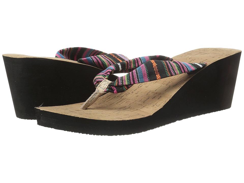 Freewaters - Kitz Wedge (Black) Women's Sandals