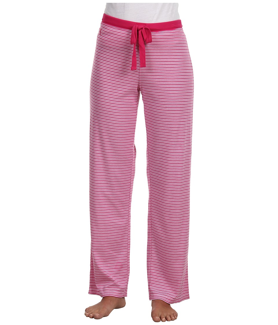 LAUREN by Ralph Lauren - Verona Knits Pajama Pant (Verona Stripe Westwood Pink) Women's Pajama