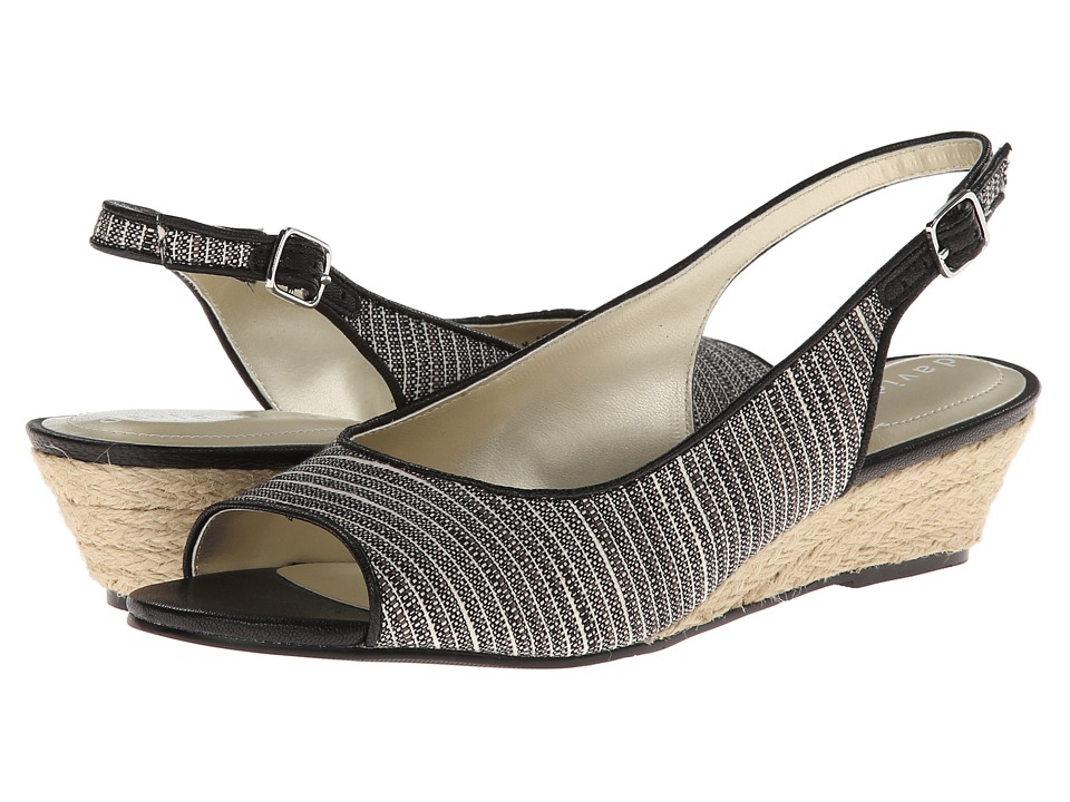 David Tate - Sunny (Black) Women's Sling Back Shoes