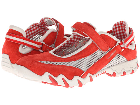 Allrounder by Mephisto - Niro (Chili Red Suede/cool Grey open Mesh) Women