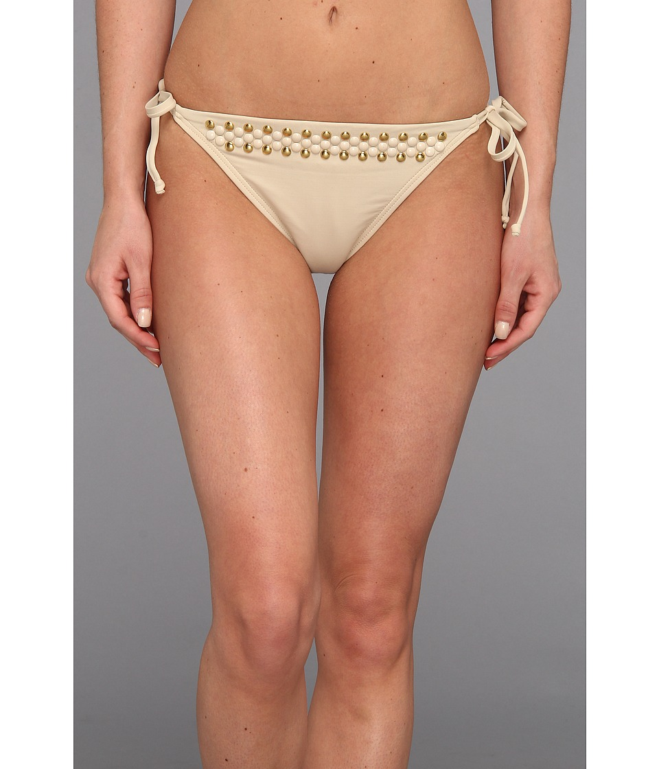 MICHAEL Michael Kors - Round Dome Solids Side Tie String Euro Bottom (Sand) Women's Swimwear