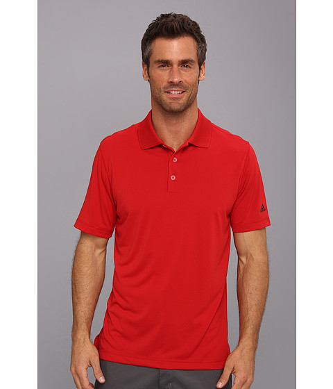 adidas Golf - Puremotion Solid Jersey Polo '15 (University Red/White) Men's Short Sleeve Knit