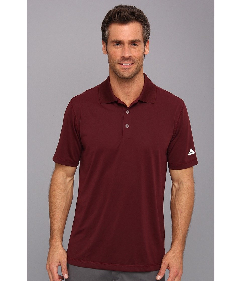 adidas Golf - Puremotion Solid Jersey Polo '15 (Light Maroon/White) Men's Short Sleeve Knit