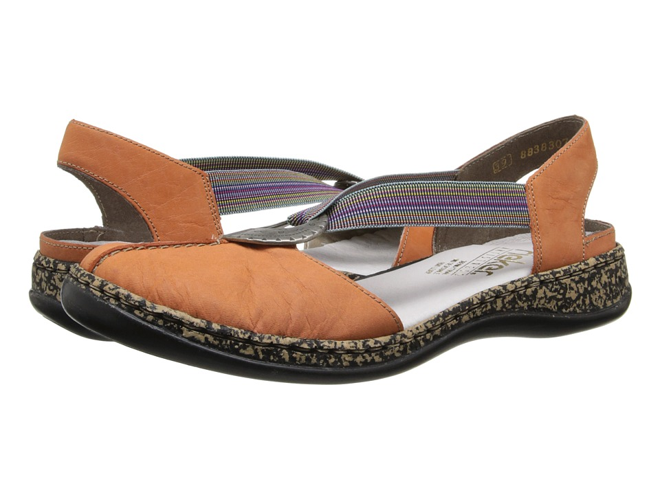 Rieker - 46362 Daisy 62 (Aperol) Women's Slip on Shoes
