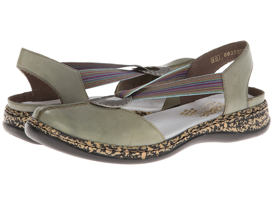 Rieker - 46362 Daisy 62 (Pistachio) Women's Slip on Shoes