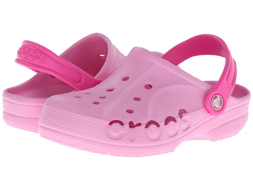 Crocs Kids - Baya (Toddler/Little Kid) (Carnation/Neon Magenta) Kids Shoes