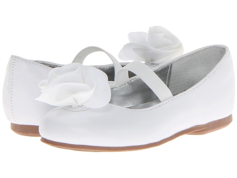 Nina Kids - Delta-T (Toddler/Little Kid) (White Smooth) Girls Shoes