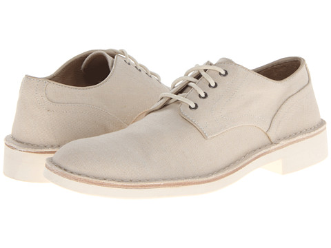 John Varvatos - Sid Eva Derby (Birch Washed Canvas) Men's Shoes