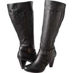 Miz Mooz Jennifer Wide Calf (Black) Footwear