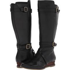 Miz Mooz Pauline Wide Calf (Black) Footwear