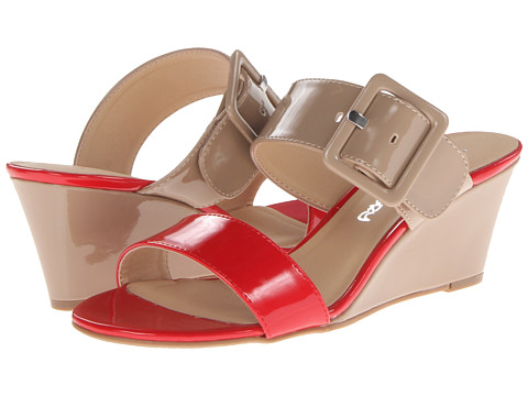 Dirty Laundry Dl Tonya Patent (Red/New Nude) Women's Wedge Shoes