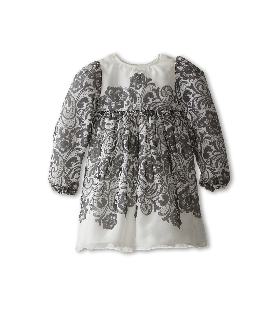 Dolce & Gabbana - Lace Print Dress (Infant) (Black/White) Women