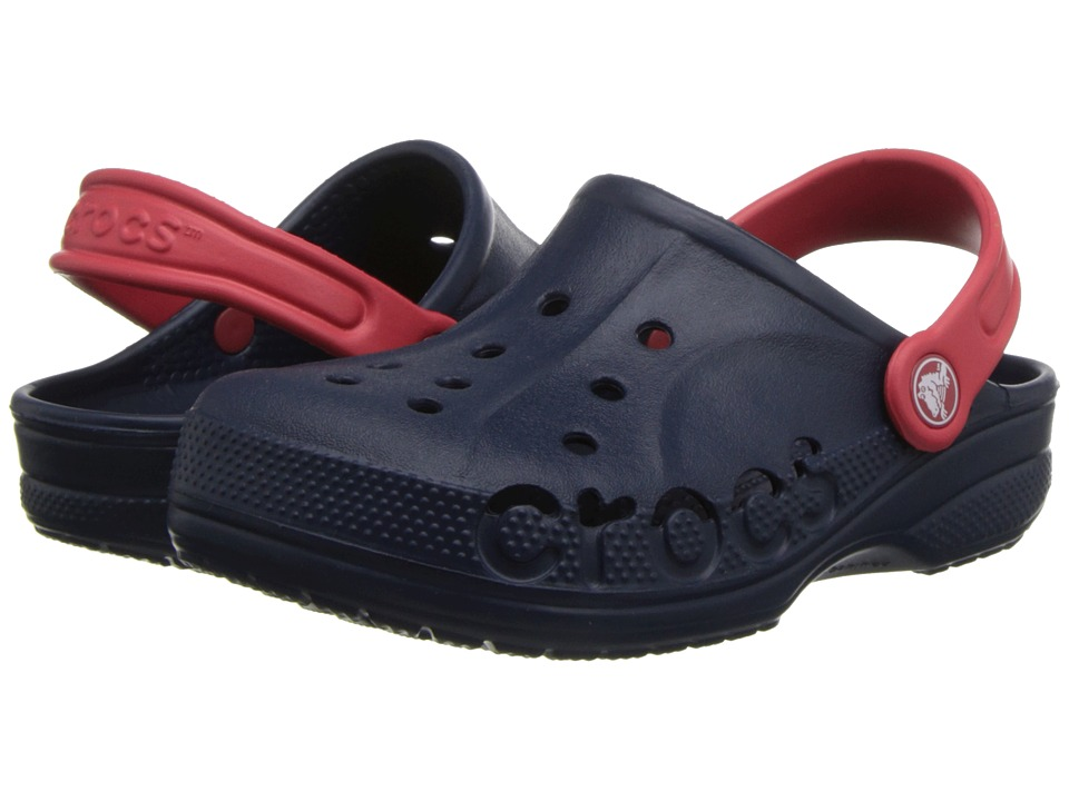Crocs Kids - Baya (Toddler/Little Kid) (Navy/Red) Kids Shoes