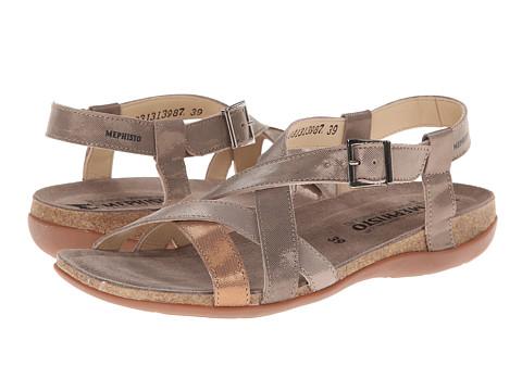 Mephisto - Aderia (Dark Taupe/Camel/Hazelnut Liz) Women's Sandals