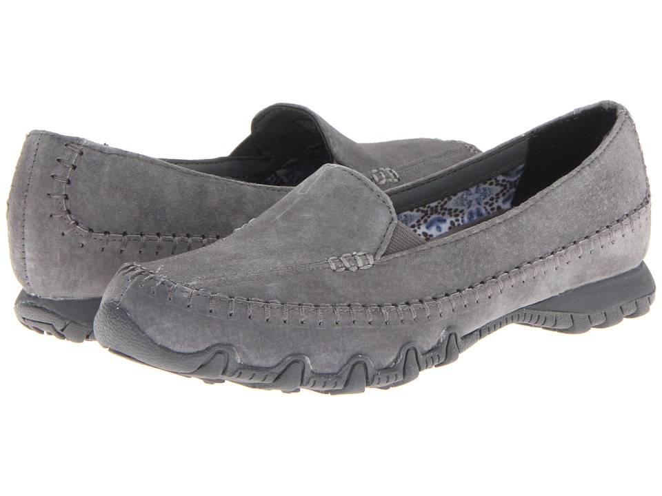 SKECHERS - Relaxed Fit - Bikers - Pedestrian (Charcoal) Women's Shoes