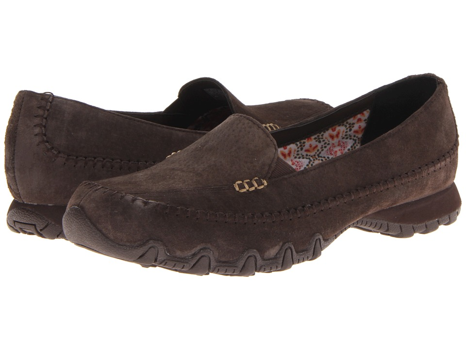 SKECHERS - Relaxed Fit - Bikers - Pedestrian (Chocolate) Women's Shoes