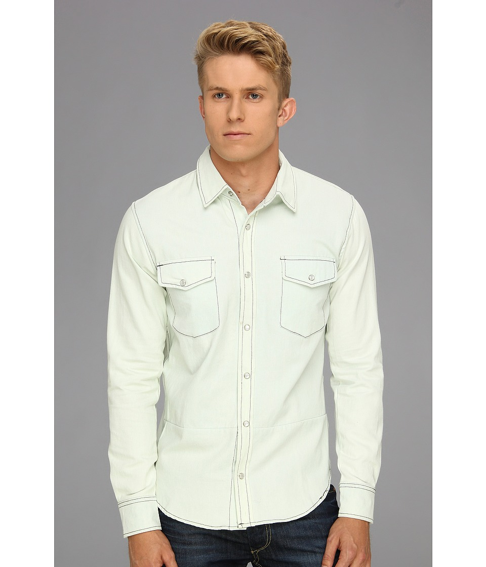 Zanerobe - Wessie L/S Woven Shirt (Light Blue) Men's Long Sleeve Button Up