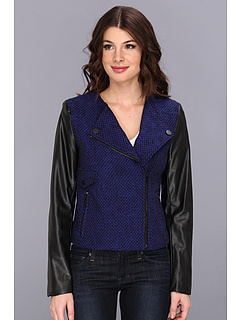 SALE! $45.99 - Save $114 on Calvin Klein TWD Moto Jacket (Celestial Black) Apparel - 71.17% OFF $159.50