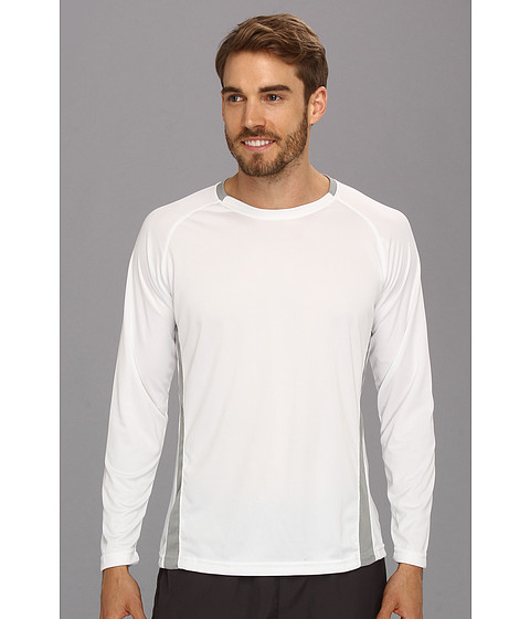 U.S. POLO ASSN. - Micro Mesh Long Sleeve Raglan Crew Neck (White) Men