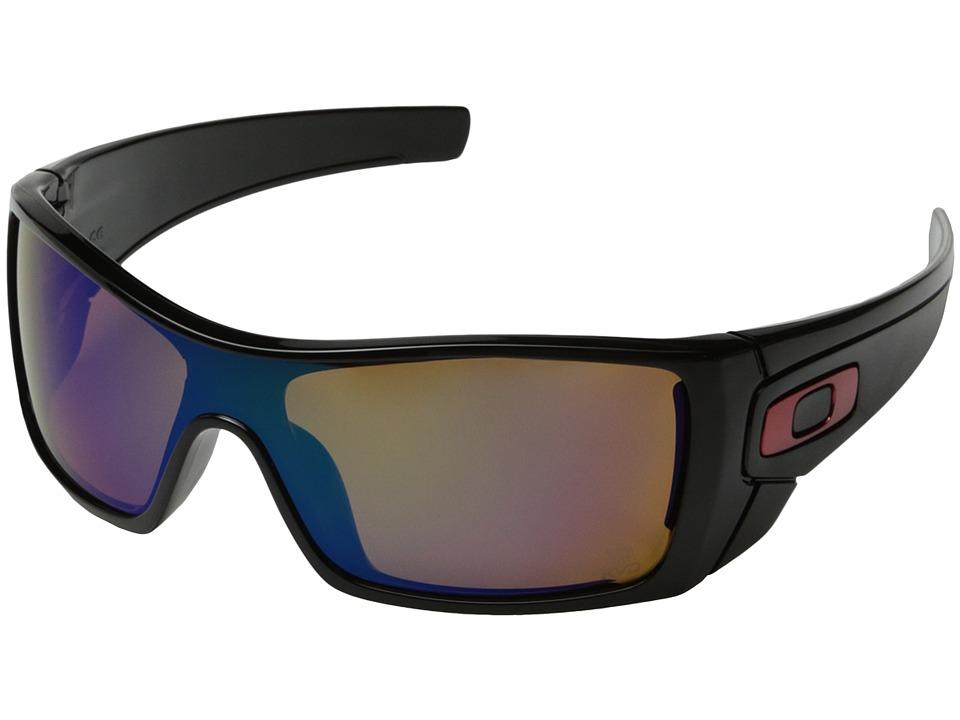 Oakley - Batwolf (Polished Black w/Shallow Blue Iridium Polarized) Sport Sunglasses