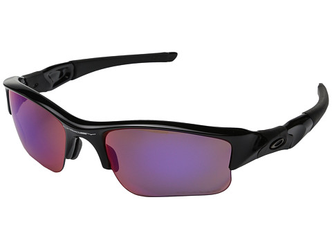 Oakley - Flak Jacket XLJ (Polished Black w/OO Red Iridium Polarized) Sport Sunglasses