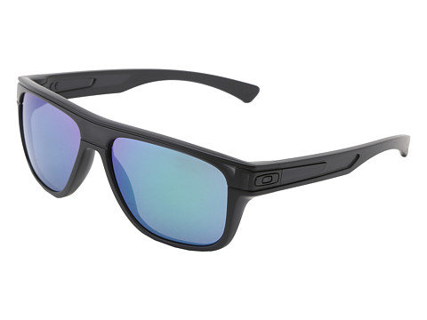 Oakley - Breadbox (Matte Black Ink w/Jade Iridium) Sport Sunglasses