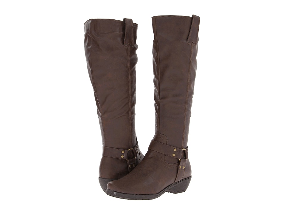 A2 by Aerosoles - In An Instint (Dark Brown Combo) Women's Zip Boots