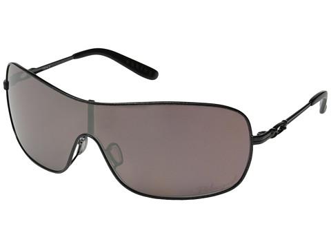 Oakley - Distress Polarized (Matte Black w/OO Black Iridium Polarized) Sport Sunglasses