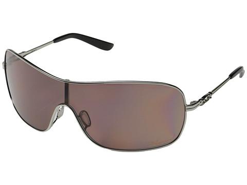 Oakley - Distress Polarized (Polished Chrome w/OO Grey Polarized) Sport Sunglasses
