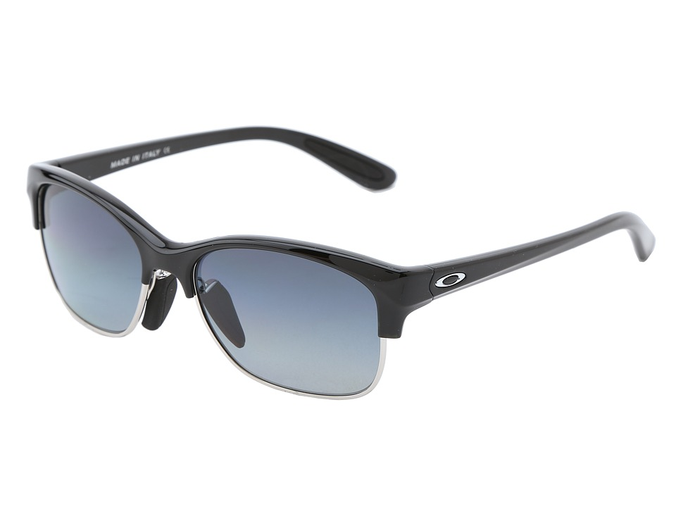 Oakley - RSVP (Polished Black w/Grey Gradient Polarized) Sport Sunglasses