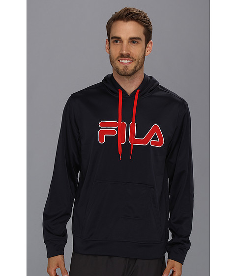 Fila - Relay Hoodie (Peacoat/Chinese Red/White) Men
