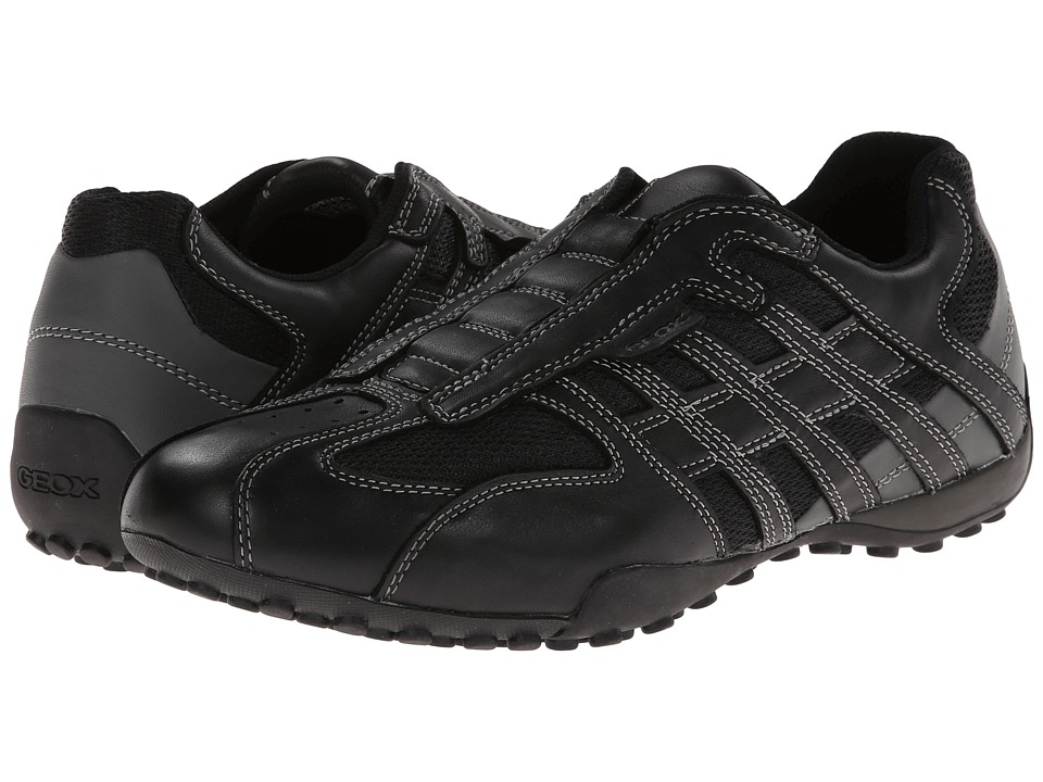 Geox - Uomo Snake (Black/Lead) Men's Shoes