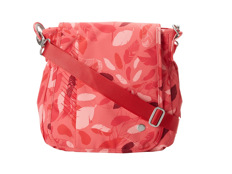Haiku - Wander (Coral Feather Print) Bags