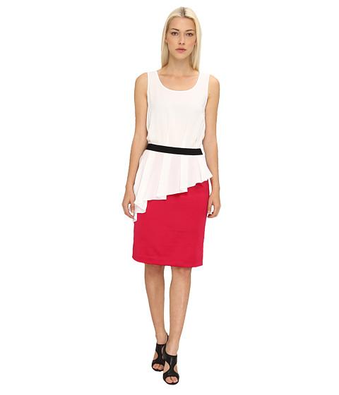 LOVE Moschino - Sleeveless Dress With Pink Skirt (White) Women