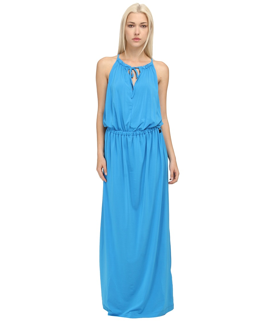 LOVE Moschino - Halter Maxi Dress (Blue) Women's Dress