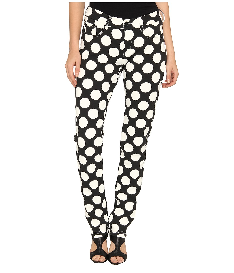LOVE Moschino - Polkadot Pants (Black/White) Women's Casual Pants