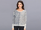 DKNY Jeans Painted Stripe Dolman Pullover Sweater