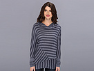 DKNY Jeans Pieced Stripe Pullover Hoodie