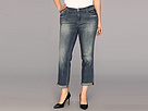 DKNY Jeans Plus Size Bleecker Boyfriend in Down and Dirty Wash