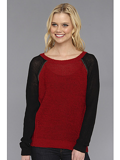 SALE! $31.99 - Save $38 on DKNY Jeans Chain Embellished Sweatshirt Pullover (Crimson) Apparel - 53.97% OFF $69.50
