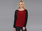 DKNY Jeans Chain Embellished Sweatshirt Pullover (Crimson)