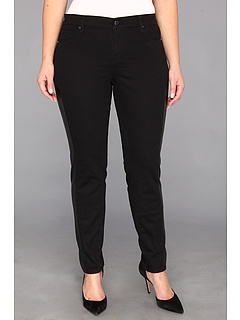 SALE! $26.99 - Save $63 on DKNY Jeans Plus Size Faux Leather Pieced Legging in Noir (Noir) Apparel - 69.84% OFF $89.50