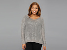 DKNY Jeans Plus Size Sequin V-Neck Pullover