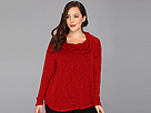 DKNY Jeans Plus Size Cowl Sweater Knit Poncho